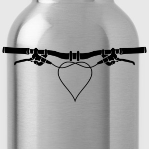 MTB handlebars with heart Shirt - Water Bottle