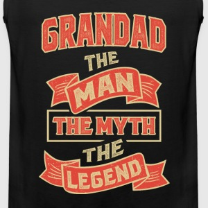 Grandad The Myth T-shirts Gifts - Men's Premium Tank