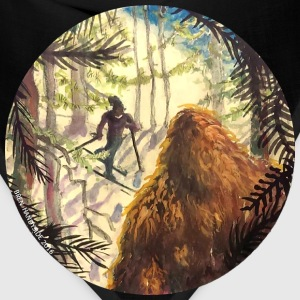 Woodland Watcher Bigfoot Men's T-Shirt - Bandana
