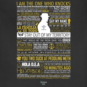 Breaking Bad Typographic - I am the one who knock - Adjustable Apron
