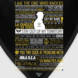 Breaking Bad Typographic - I am the one who knock - Bandana