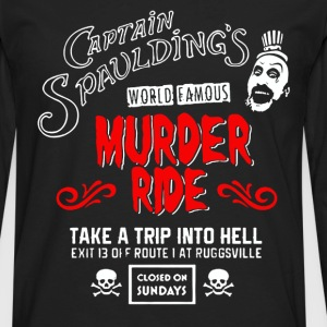 Captain Spaulding's - World famous murder ride tee - Men's Premium Long Sleeve T-Shirt