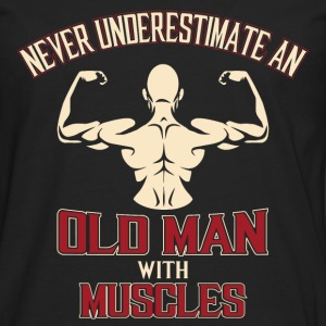 Bodybuilding Old man with muscles - Men's Premium Long Sleeve T-Shirt
