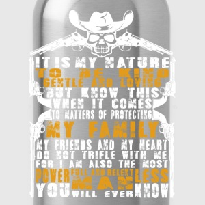 Cowboy - It's my nature to be kind and gentle - Water Bottle