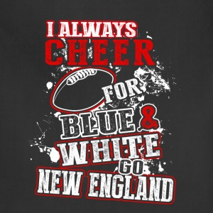 New England - Always cheer for blue  - Adjustable Apron
