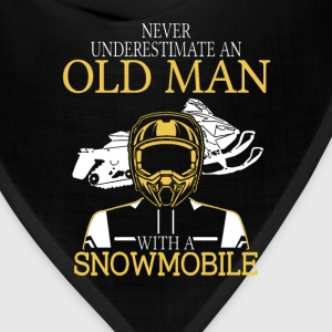 Snowmobile - An old man with a snowmobile - Bandana