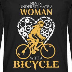 Bicycle - A woman with a bicycle awesome t-shirt - Men's Premium Long Sleeve T-Shirt