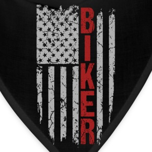 Biker - Awesome flag t-shirt for American biker - Bandana