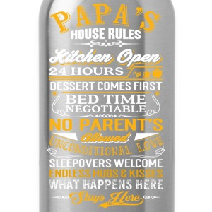 Papa - Papa's house rules - Fathers Day - Water Bottle