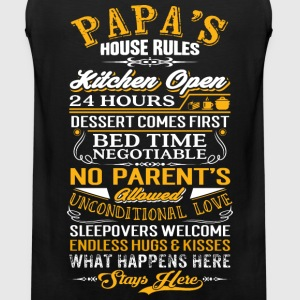 Papa - Papa's house rules - Fathers Day - Men's Premium Tank