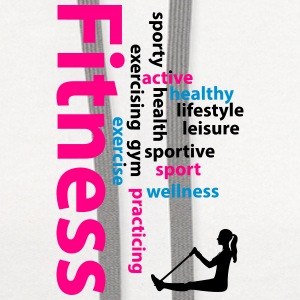 Fitness words Buttons - Contrast Hoodie