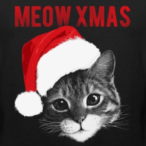 cute cat meow xmas - Men's Premium Tank