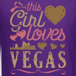 This Girl Loves Vegas - Las Vegas Gift T-Shirts - Crewneck Sweatshirt