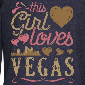 This Girl Loves Vegas - Las Vegas Gift Hoodies - Women's Wideneck Sweatshirt