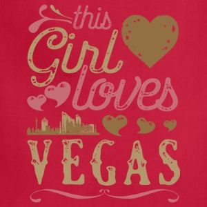 This Girl Loves Vegas - Las Vegas Gift T-Shirts - Adjustable Apron