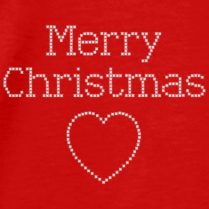 Merry Christmas cross stitch sign Aprons - Men's Premium T-Shirt