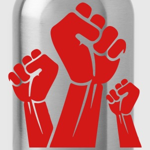 Fight the power red fist T-Shirts - Water Bottle