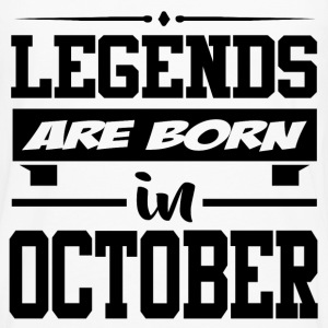 LEGENDS ARE BORN IN OCTOBER,LEGENDS, ARE BORN ,IN  - Men's Premium Long Sleeve T-Shirt