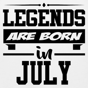 LEGENDS ARE BORN IN JULY,LEGENDS, ARE BORN ,IN JUL - Men's Premium Tank