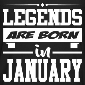 LEGENDS ARE BORN IN JANUARY,LEGENDS, ARE BORN ,IN  - Men's Premium Long Sleeve T-Shirt