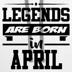LEGENDS ARE BORN IN APRIL,LEGENDS, ARE BORN ,IN AP - Contrast Hoodie
