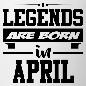 LEGENDS ARE BORN IN APRIL,LEGENDS, ARE BORN ,IN AP - Coffee/Tea Mug