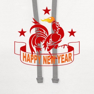 fire_rooster_year_2017_ - Contrast Hoodie