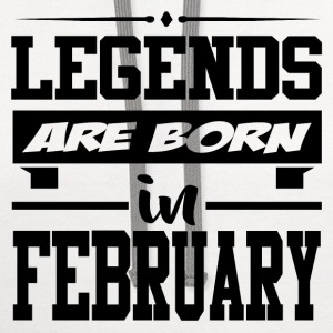 LEGENDS ARE BORN IN FEBRUARY,LEGENDS, ARE BORN ,IN - Contrast Hoodie