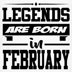 LEGENDS ARE BORN IN FEBRUARY,LEGENDS, ARE BORN ,IN - Men's Premium Long Sleeve T-Shirt