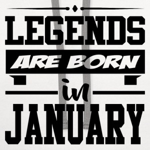 LEGENDS ARE BORN IN JANUARY,LEGENDS, ARE BORN ,IN  - Contrast Hoodie