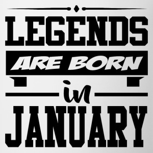 LEGENDS ARE BORN IN JANUARY,LEGENDS, ARE BORN ,IN  - Coffee/Tea Mug