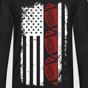 Usa Football - Football flag t-shirt for American - Men's Premium Long Sleeve T-Shirt