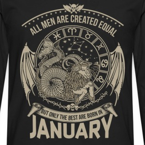 January - The best men are born in january - Men's Premium Long Sleeve T-Shirt
