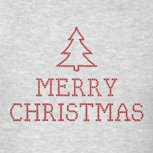 Merry Christmas cross stitch sign Long Sleeve Shirts - Men's T-Shirt