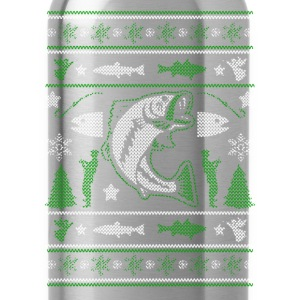 Christmas sweater for fisherman - Merry Fishmas - Water Bottle