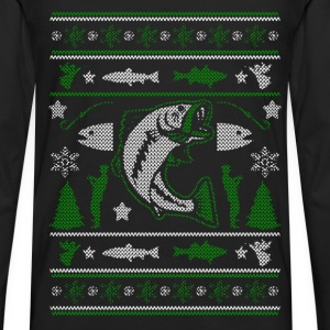 Christmas sweater for fisherman - Merry Fishmas - Men's Premium Long Sleeve T-Shirt