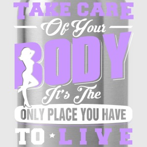 Bodybuilding - The only place you have to live - Water Bottle
