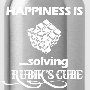 Happiness is solving Rubik's cube - Water Bottle