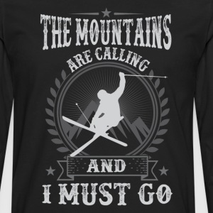 Skiing The Mountains Are Calling And I Must Go T-S - Men's Premium Long Sleeve T-Shirt