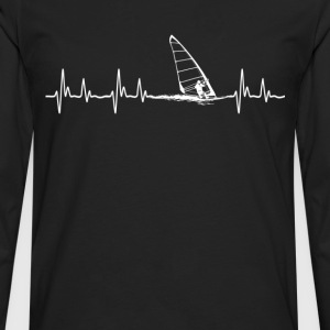 Wind surfing - It is in my hearbeat - Men's Premium Long Sleeve T-Shirt