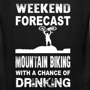 Weekend mountain biking - With chance of drinking - Men's Premium Tank