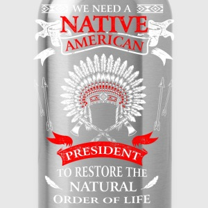 Native american - To restore the natural order tee - Water Bottle