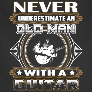 Guitarist - Old man with a guitar awesome - Adjustable Apron