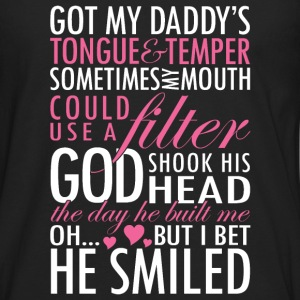 Daddy - Got my daddy's tongue  - Men's Premium Long Sleeve T-Shirt