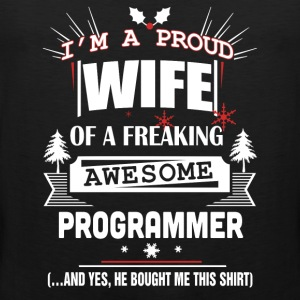 Programmer - Proud wife of an awesome programmer - Men's Premium Tank