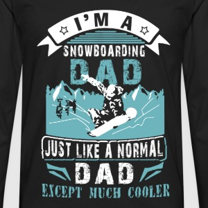 Snowboarding dad - Just like other except cooler - Men's Premium Long Sleeve T-Shirt
