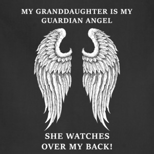 Granddaughter - Mine is my guardian angel - Adjustable Apron
