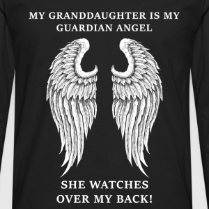 Granddaughter - Mine is my guardian angel - Men's Premium Long Sleeve T-Shirt