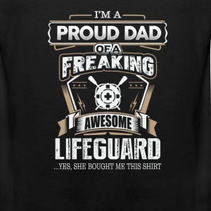 Lifeguard - Proud dad of an awesome lifeguard - Men's Premium Tank