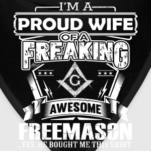 Freemason - PRoud wife of a freemason - Bandana